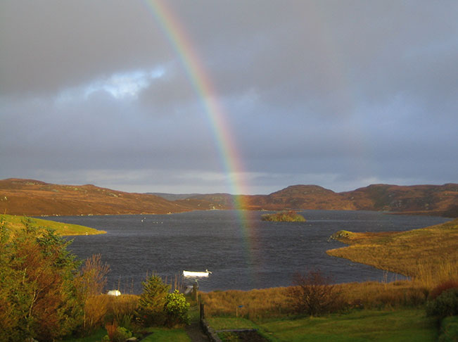 loch and rainbow